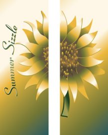 Summer Sizzle Gold Giant Sunflower Double Banner