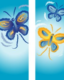 Happy Butterflies Double Banner