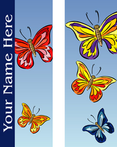 Summer Butterflies Personalized Double Banner