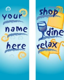 Shop, Dine, Relax Multi-Season Banner for Shopping Malls