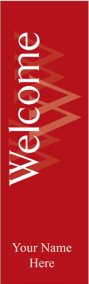 Elegant Red Welcome Banner