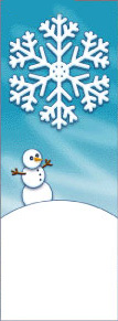 Giant Snowflake with Snowman Winter Season Banner
