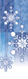 Winter Blue Falling Snowflakes Banner