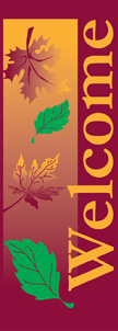 Autumn Falling Leaves Welcome Banner