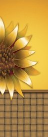 Large Gold Sunflower Basket Banner