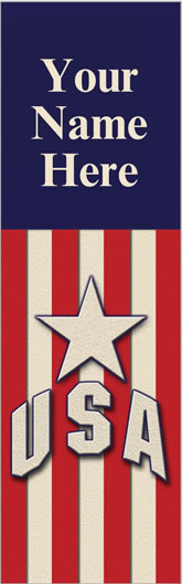 USA Star Personalize Light Pole Banner