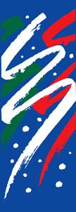 Festive Swishes on Blue Winter Season Banner
