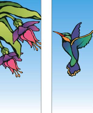 Designer Hummingbird Double Banner