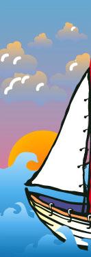 Summer Sailing Sailboat Banner