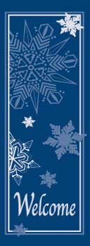 Winter Snowflakes Blue Welcome Banner