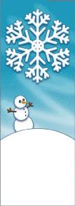 Giant Snowflake with Snowman Winter Season Banner