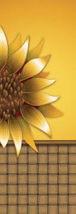 Large Gold Sunflower Basket Banner