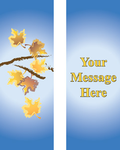 Designer Autumn Leaves Personalized Double Banner