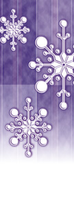Designer Falling Snowflakes on Purple Banner