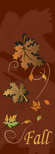 Fall is in the Air Falling Leaves Banner