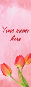 Soft Pink Watercolor Tulips Banner