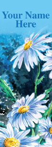 Stunning Watercolor White Daisies Banner