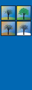 Blue 4 Season Trees Light Pole Banner
