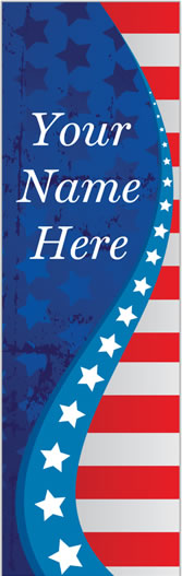 Personalized Red White Blue Light Pole Banner
