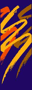 Multi-Season Purple Light Pole Banner with designer Swishes