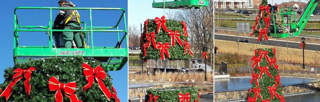 professional commerical Christmas decoration installers