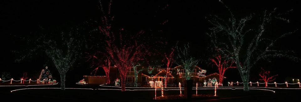 Christmas Holiday Light Show Display
