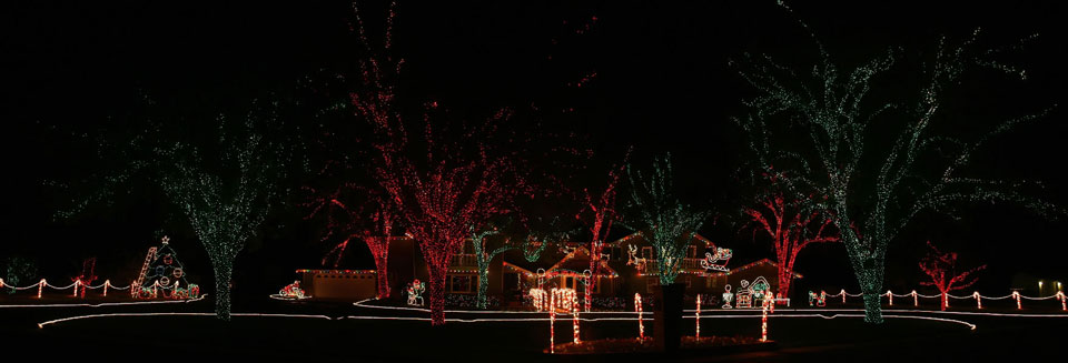 Christmas Holiday Light Show Display