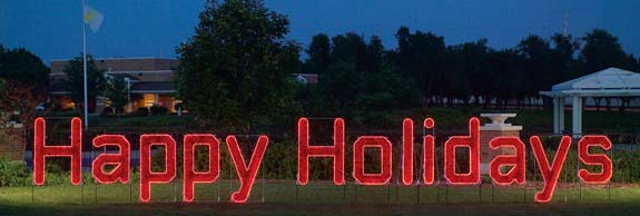 Happy Holidays Large Skyline Decoration