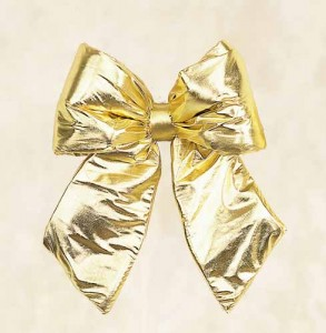 Gold Lame Bows Commercial Decorations