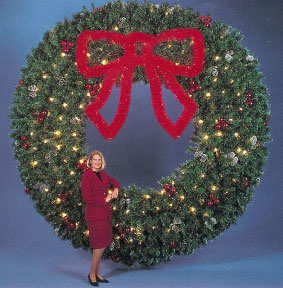 giant holiday wreath decor for large buildings - Large Outdoor Christmas Wreath