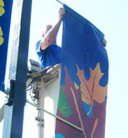 professional banner installation service