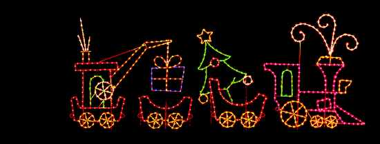 christmas train caboose light decoration christmas holiday train with gifts outdoor