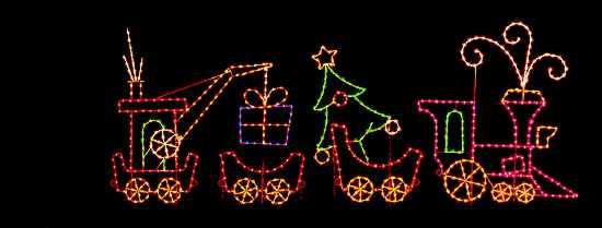 Christmas Train Caboose Light Decoration