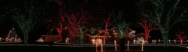 Festive outdoor light displays