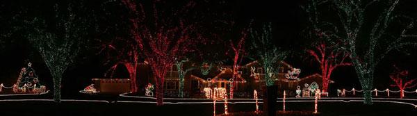 Festive outdoor light displays