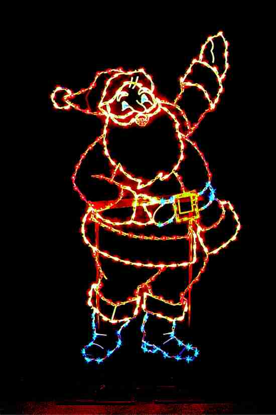 Waving Santa Outdoor Light Decoration