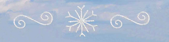 White Snowflake and Scroll Skyline Decortaions