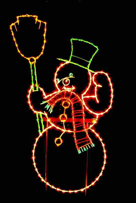 Outdoor Snowman Light Display Decoration