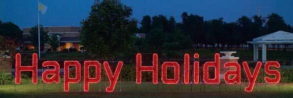 Happy Holidays Large Skyline Decoration