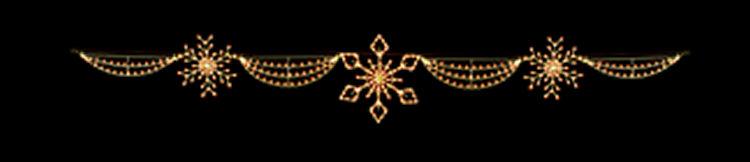 Silhouette Light Snowflake Skyline