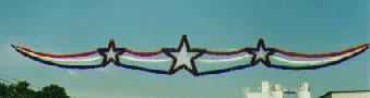 Fourth of Jult Streamer and Garland Celebration Skyline