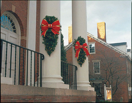 Building Front Column Holiday Sprays Decoration