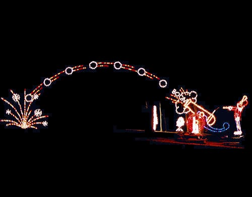 Soldier Firing Cannon Light Show