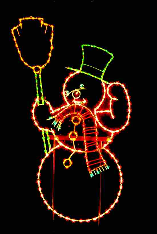 Outdoor Snowman Light Display Decoration